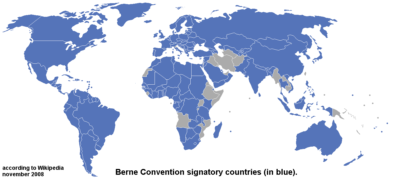 Signatory countries of Bern Convention