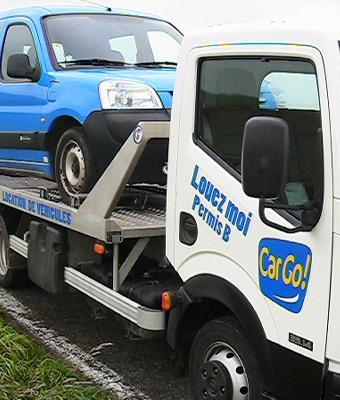 CATHI has been moved by the vehicle's carrying truck (<3,5T) of CarGo : Cars' Rental Agency in Gerzat (63, Clermont Ferrand, France)
