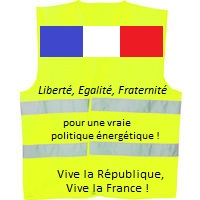 Liberté, Egalité, Fraternité : pour une vraie politique énergétique ! Vive la République, Vive la France ! Propositions de SYCOMOREEN à l'attention des Gilets Jaunes et de l'Etat Français.