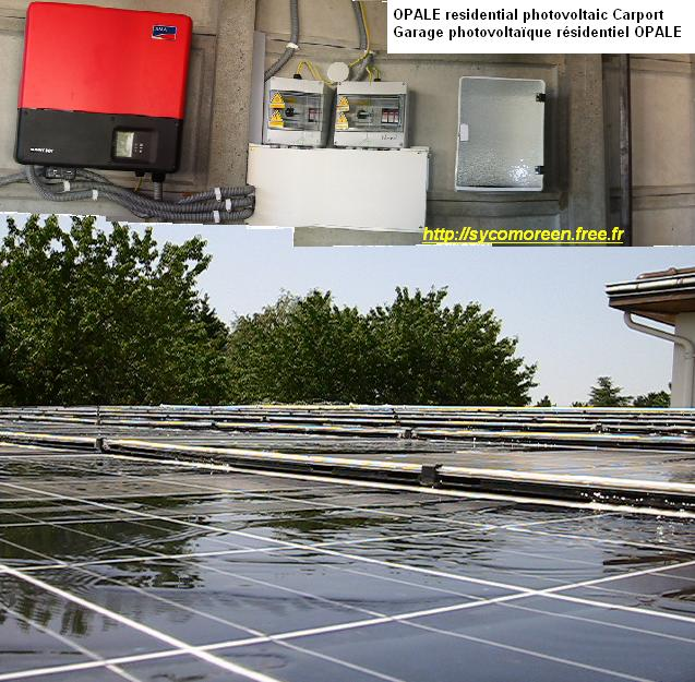Residential OPALE photovoltaic Carport by Sycomoreen
