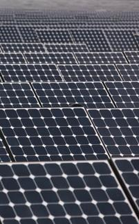 Photovoltaic field of solar panels