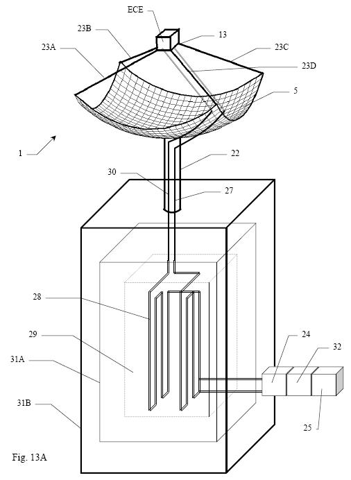 Flexible heat storage with re-raising container placed under the PHRSD